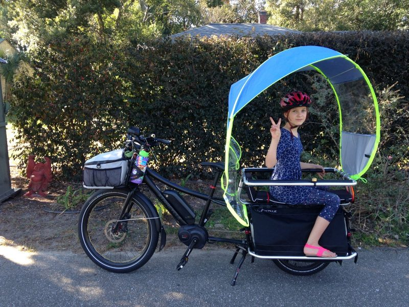Longtail cargo bike rain cover